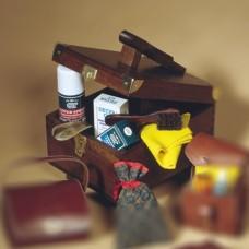 Drvena kutija za pribor za čišćenje obuće